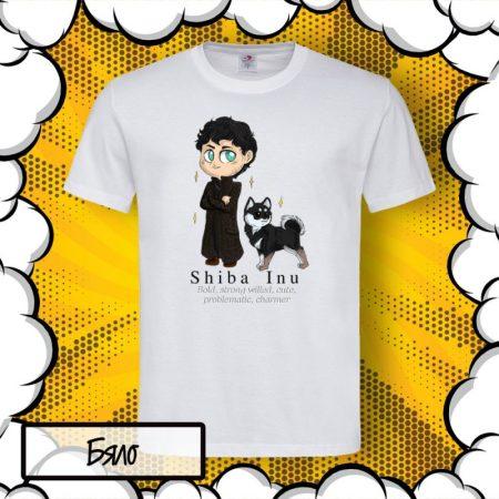 Мъжка тениска с принт Shiba Inu