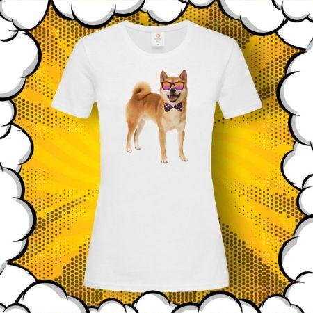 Дамска тениска с принт Shiba Inu Шиба Ину