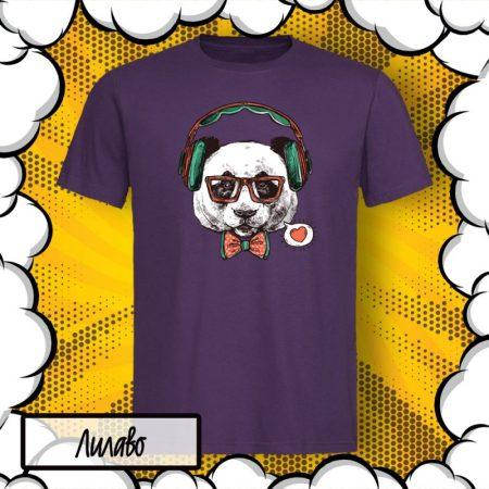 Мъжка тениска с панда Hipster PANDA