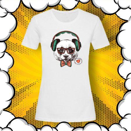 Дамска тениска с панда Hipster PANDA