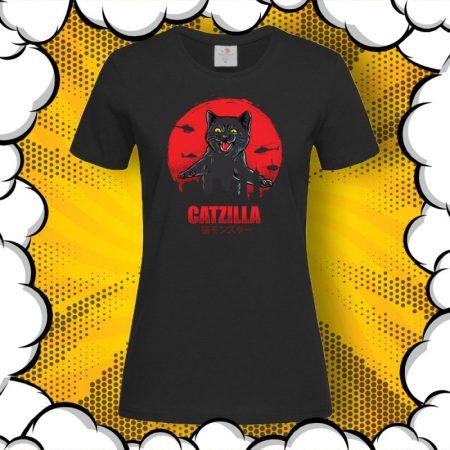 Дамска тениска с принт котка CATZilla
