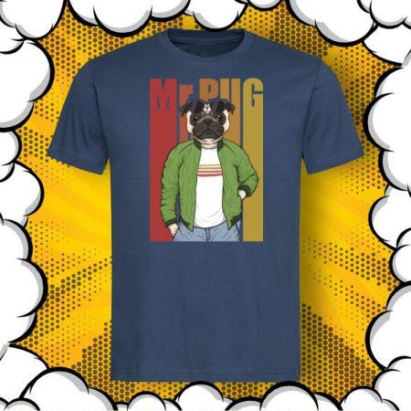 Мъжка тениска с мопс Mr.PUG