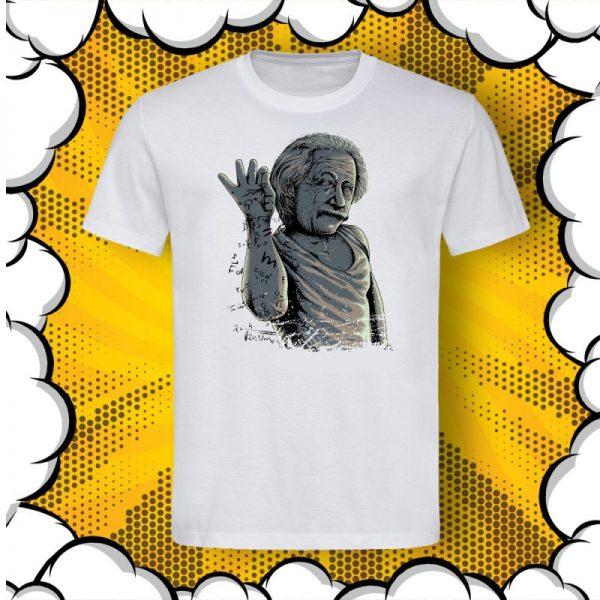 Тениска с Алберт Айнщайн като Salt Bae