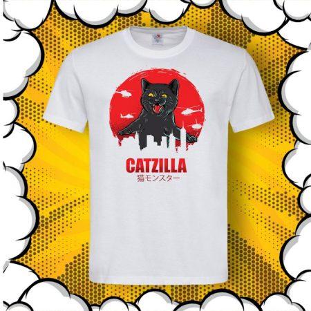 Мъжка тениска с котка CATZilla