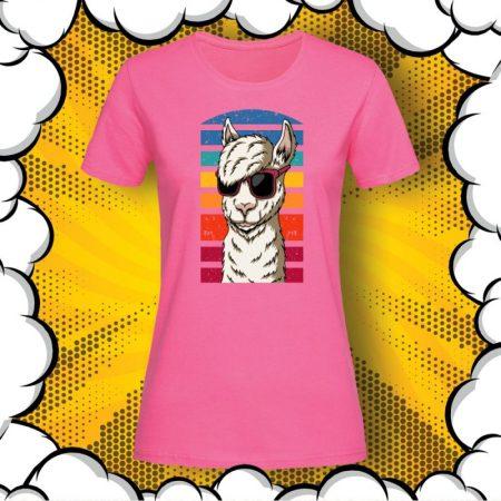 Дамска тениска с принт Hipster Llama