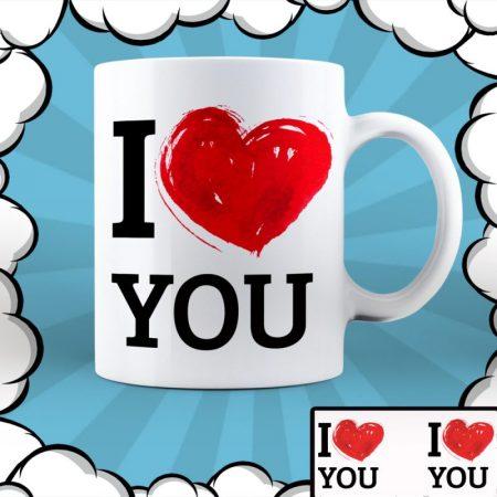 Керамична чаша I Love You
