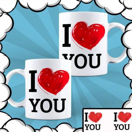 Комплект чаши I Love You